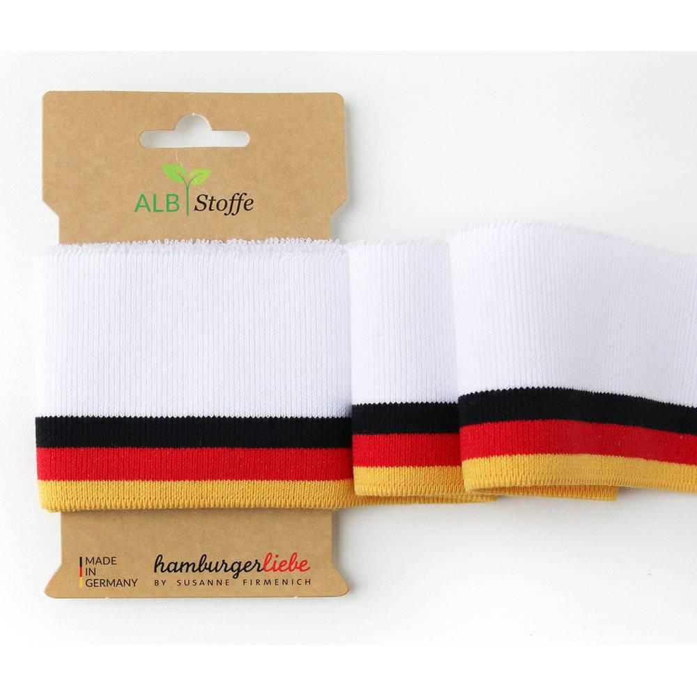 """Bio-Bündchen """"Cuff Me COLLEGE"""" Deutschland weiß kbA Albstoffe Bild 1"""