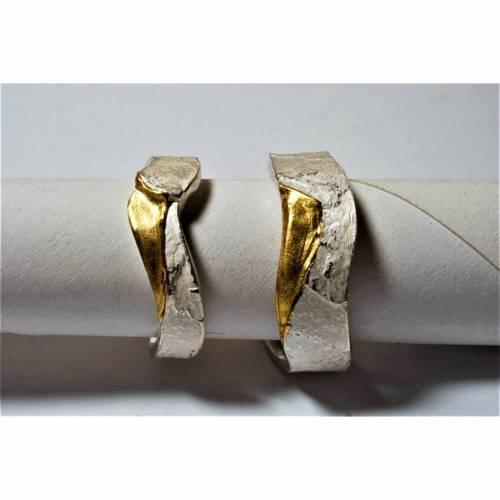 Partnerring in Silber und Gold