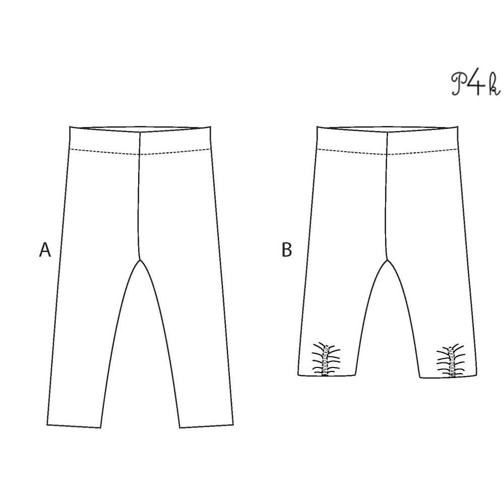 Baby Leggings Schnittmuster für Mädchen bis 6 Jahre. Unisex Stretchhose Leggins mit Gummizug. Papierschnitt ENNA von Patternforkids Bild 1
