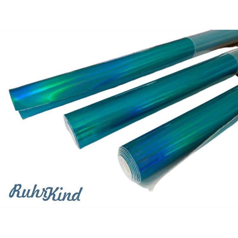 Hologramm Kunstleder Blau 66x45cm Bild 1
