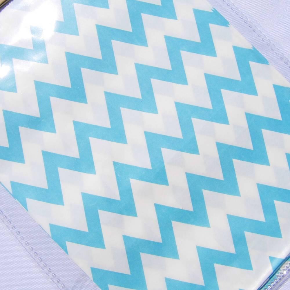 Papiertüte weiß hellblau Verpackung Geschenktüte Mitgebseltüte Geschenkverpackung hellblau Bild 1