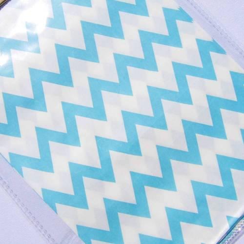 Papiertüte weiß hellblau Verpackung Geschenktüte Mitgebseltüte Geschenkverpackung hellblau