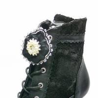 Blumen Schuhclips, Schuhschmuck mit Blüten, Anstecker in Bead Embroidery Bild 1