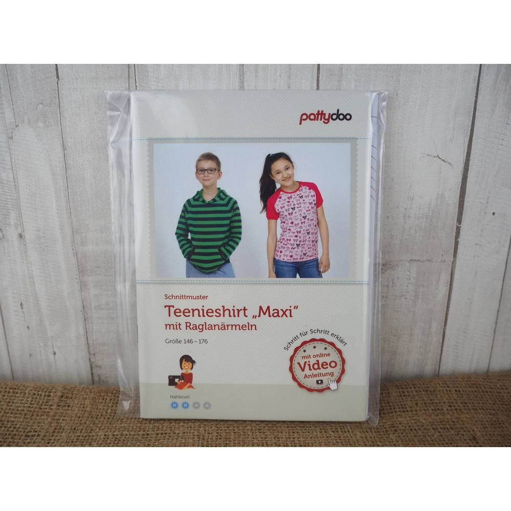 Pattydoo Schnittmuster Teenieshirt Maxi Raglan, Schnittmuster für Kinder - Kleidung, Papierschnitt / Papierschnittmuster Bild 1