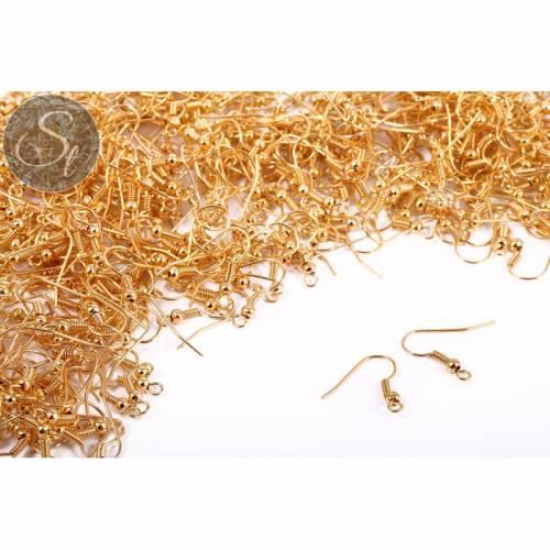 20 Stk. goldfarbene Ohrhaken 18mm