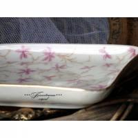 Vintage * Schale *  Porzellan * Porzellschale * Goldrand * Antik * in zartem Rosa-Weiß-Tönen Bild 1