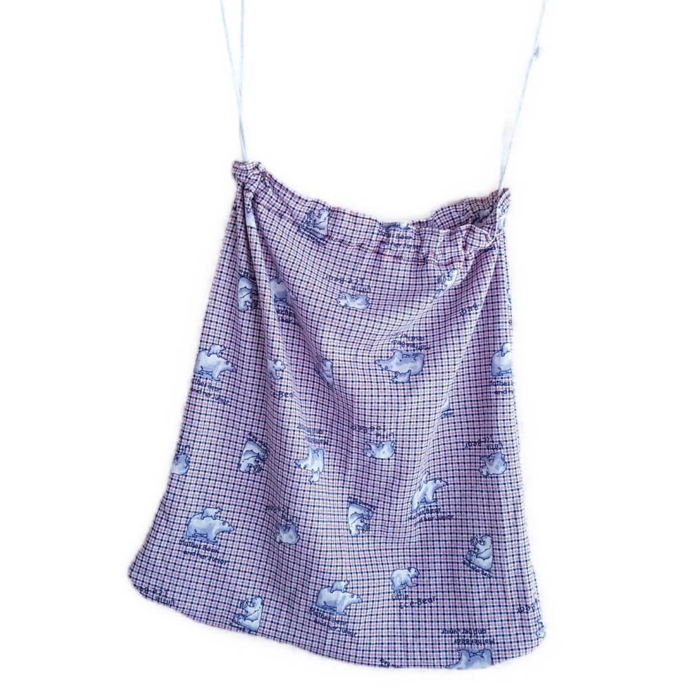 Set 2 tlg. Wäschebeutel und Kosmetiktasche, Wäschesack, Kleidersack, 45 x 50 cm, mit Kordelzug, Unikat,  Bild 1