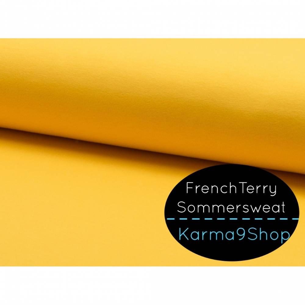 0,5m Sommersweat FrenchTerry gelb Bild 1