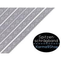 3m Spitzenschrägband #1 fliedergrau Bild 1