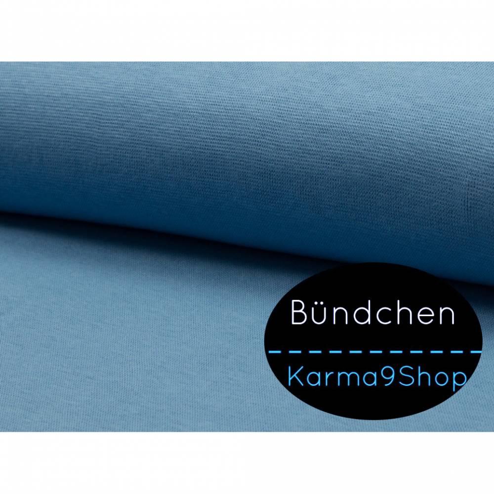 0,5m Bündchen jeansblau #Q24-1 Bild 1
