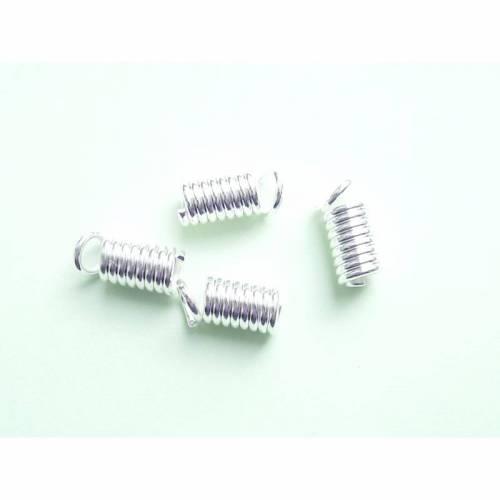 Endkappen Feder für 2-2,5 mm Band, versilbert
