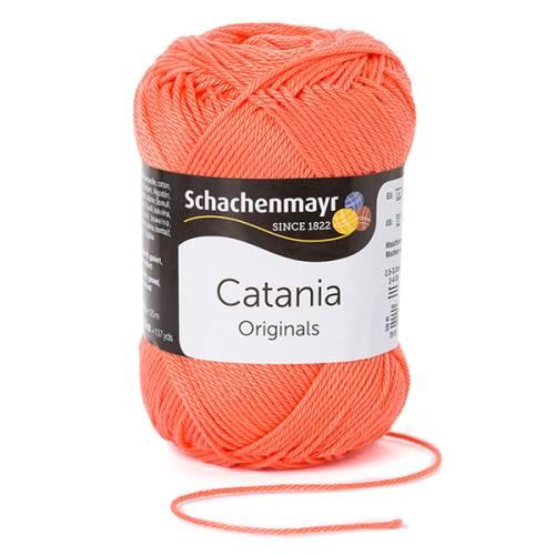 50g (5EUR/100g) Catania Baumwolle Garn Schachenmayr koralle 410