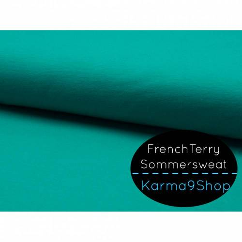 0,5m Sommersweat FrenchTerry petrol