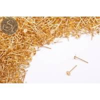 10 Stk. goldfarbene Ohrstecker-Rohlinge Bild 1