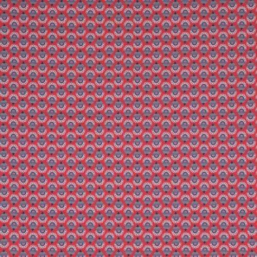 Jersey Periwinkle rot by Jolijou Swafing Blumen Stoff Meterware, Sale