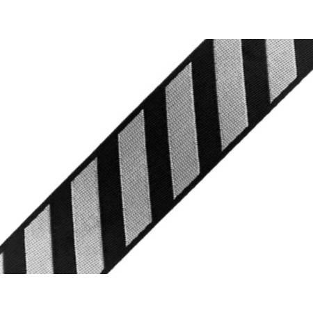 Glänzendes Webband Streifen hellgrau Bild 1