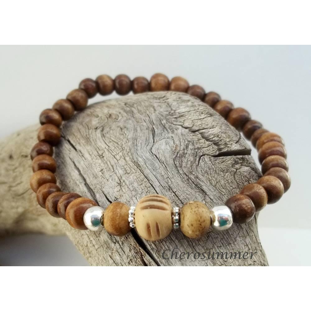 Armband for Men Ethno Holz und Horn Bild 1