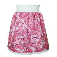 Kinderrock Rock Mädchen Schlupfrock Midirock Sommerrock Baumwolle Blumen creme rosa  Bild 1