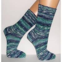 Socken handgestrickt für Allergiker, vegan, Socken Wunschgröße, Herrensocken, wollfrei, Ringelsocken, bunte Socken, handgestrickte Socken Bild 1