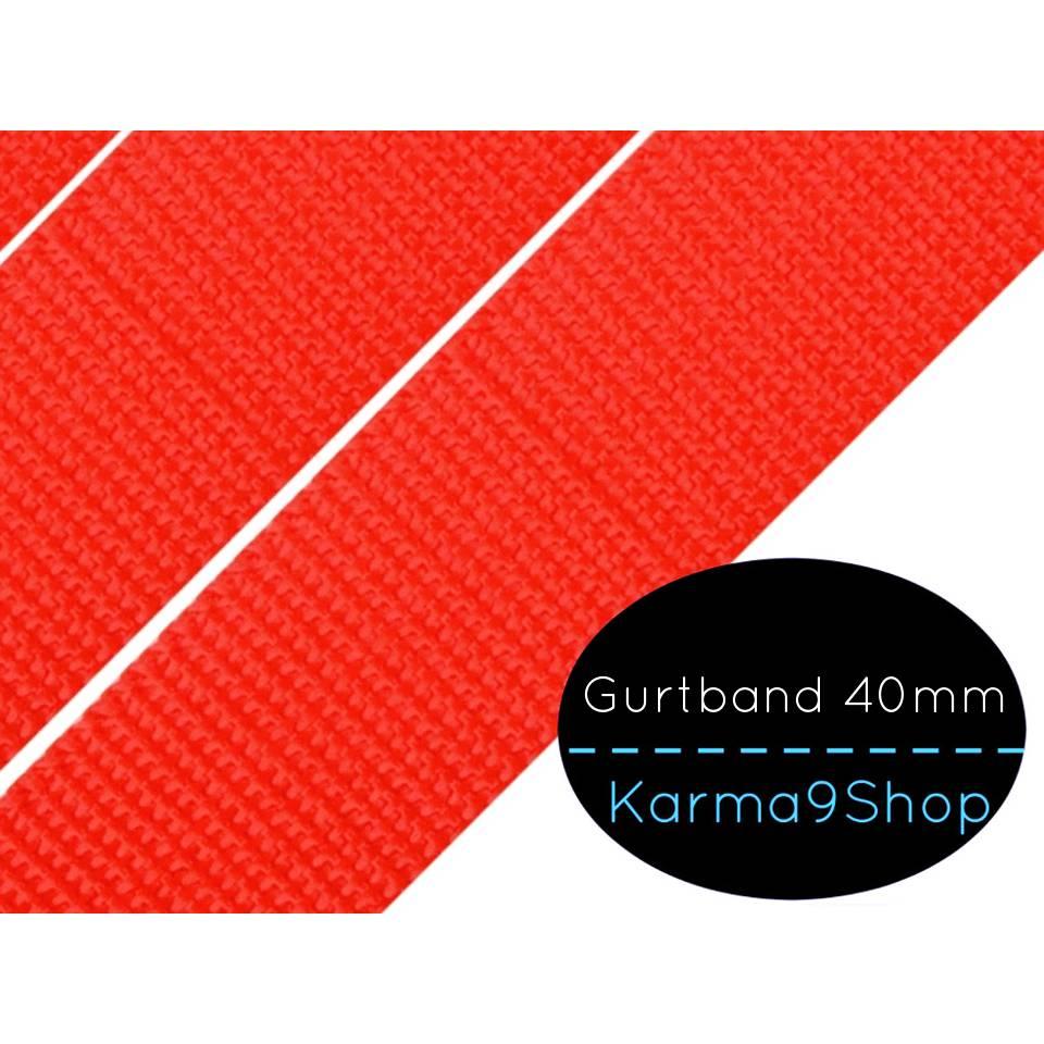 Gurtband 40mm hellrot Bild 1