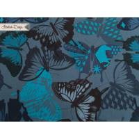 "BW ""Flutter Navy"" Schmetterling Cotton + Steel Bild 1"