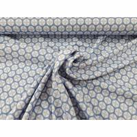 Jersey Lotus Dreams  by lucklig design rauchblau, weiß Bild 1