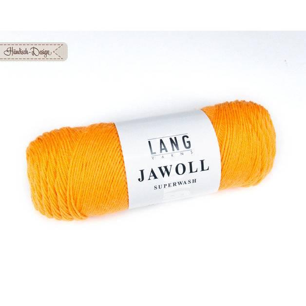 50g (7,90EUR/100g) JAWOLL Uni goldgelb LANG YARNS Bild 1