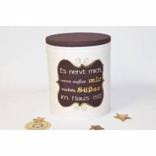 Aufbewahrungsdose: Es nervt mich, wenn außer mir nichts Süßes im Haus ist!