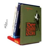 vintage Buchstütze im retro Design, aus Büchern upcycelt Bild 1