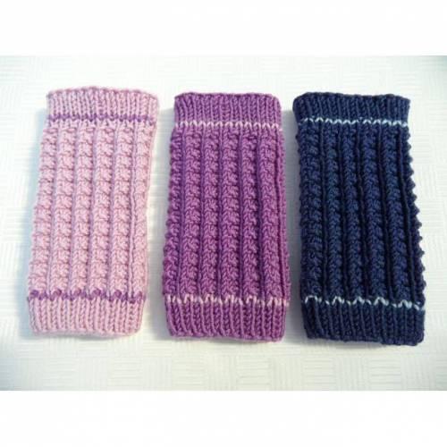 Babystulpen, handgestrickt aus Wolle (Merino), Größe: 6-12 Mon