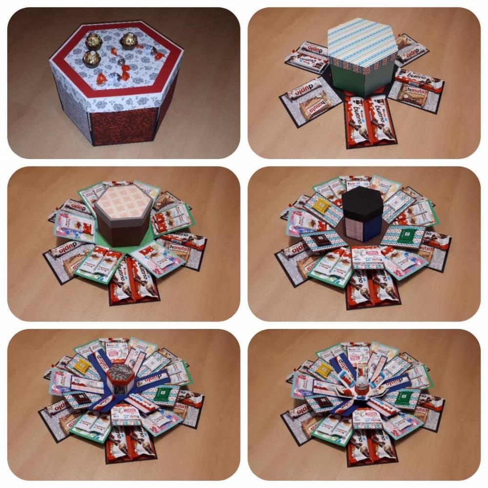 Explosionsbox für Süßigkeiten - Plotterdatei Bild 1