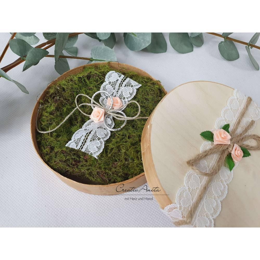 Ringbox-Ringkissen VINTAGE Moos i.Holzbox Hochzeit Bild 1
