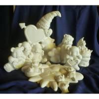 Schrühware,Bastelset,verschiedene Teddybären Kindergeburtstag,Keramik zum selbstbemalen Bild 1
