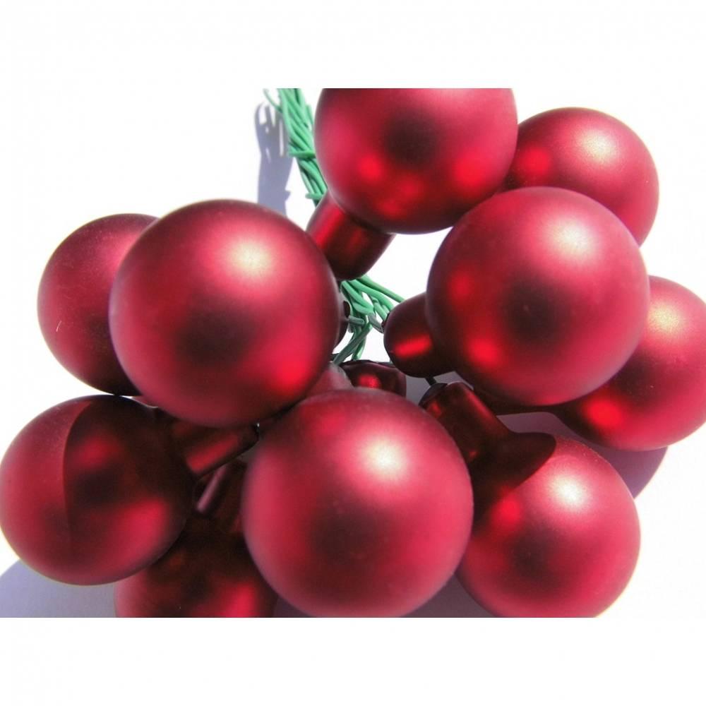 Mini Glaskugeln rot Spiegelbeeren Minikugeln Weihnachtskugeln Bild 1