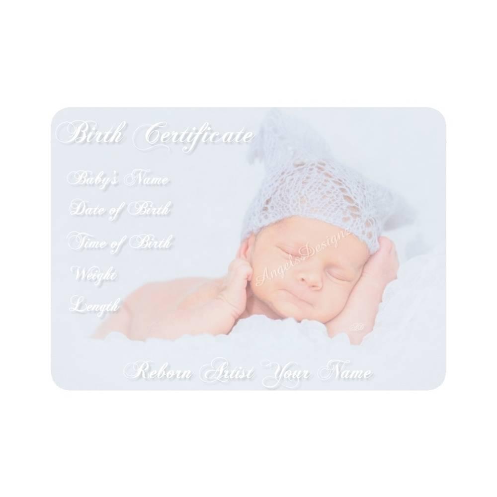 Geburtsurkunde Reborn Puppen Artist Künstler Bild 1