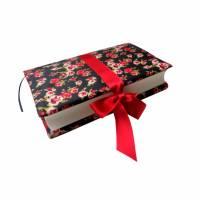 Buchhülle Buchumschlag, Upcycling aus Regenschirm, für gebundenes Buch /Taschenbuch, Upcycling Bild 1