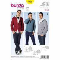 Burda Schnitt 7734  Jacke & Shirt Bild 1