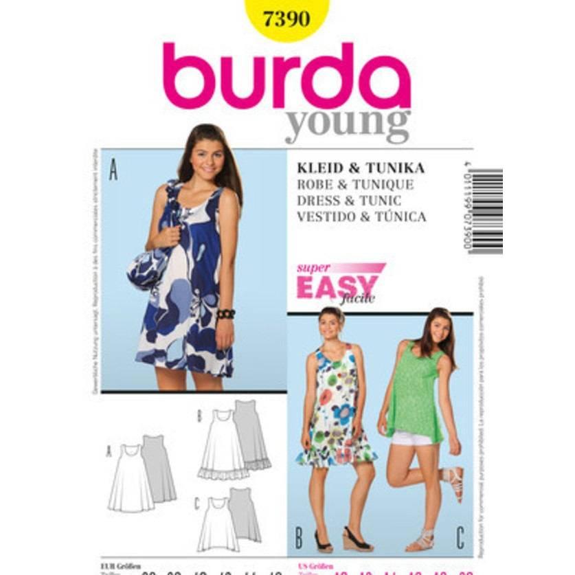Burda Schnitt 7390 Kleid & Tunika Bild 1
