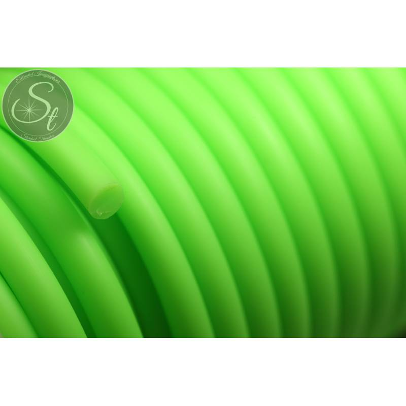 0,5 Meter grüne synthetik-Kautschuk Kordel 5mm Bild 1