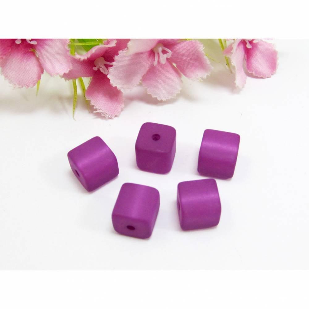 5 Polaris Würfel matt, Farbe lila Bild 1