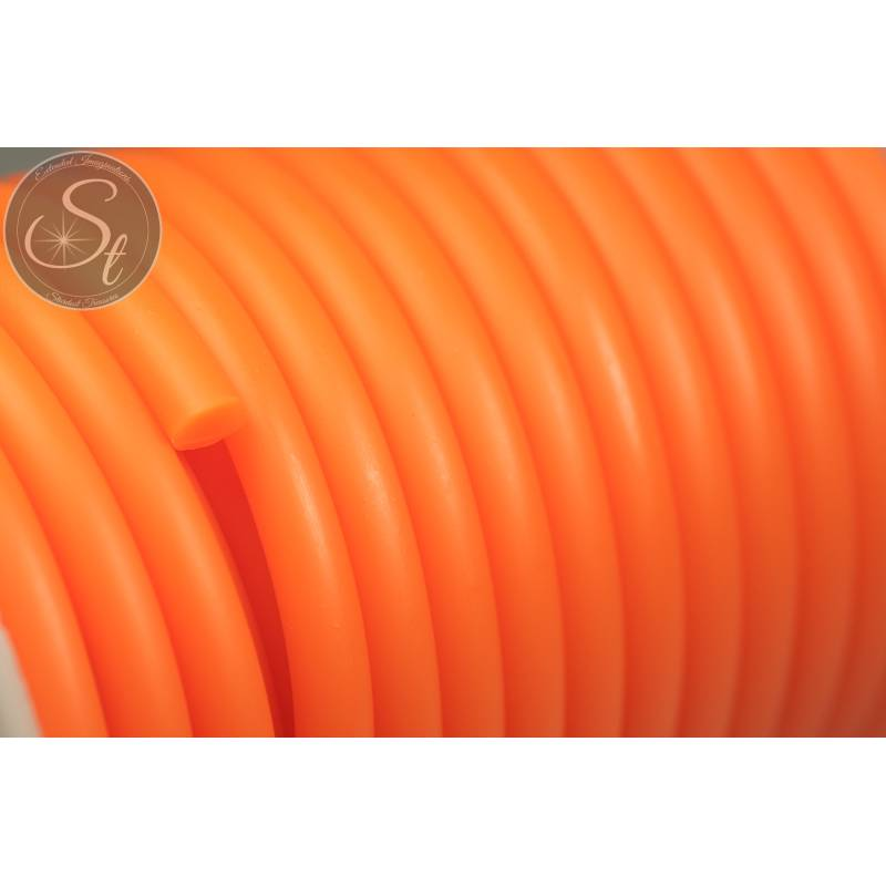 0,5 Meter orange synthetik-Kautschuk Kordel 5mm Bild 1