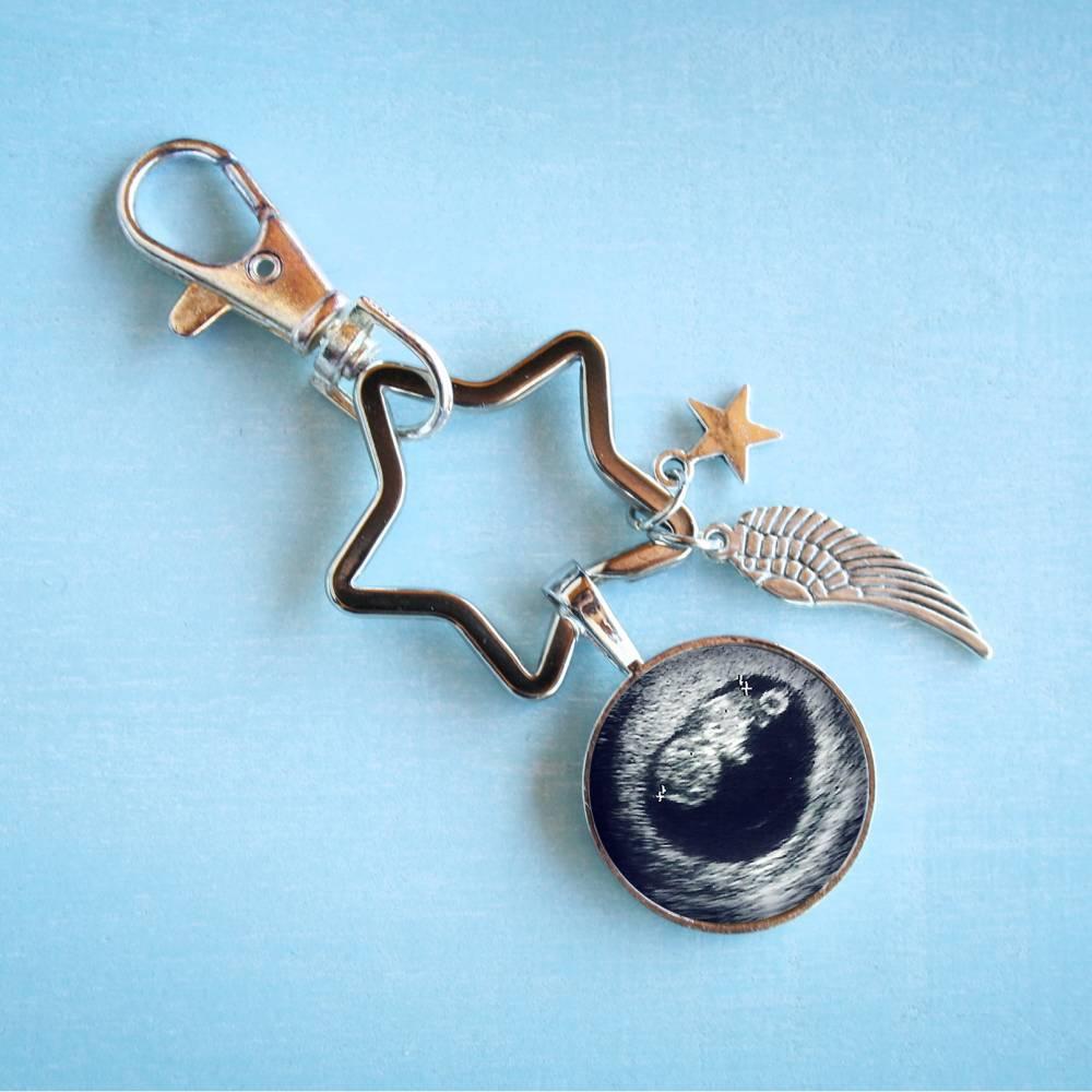 Personalisierter Schlüsselanhänger Sternenkind Bild 1