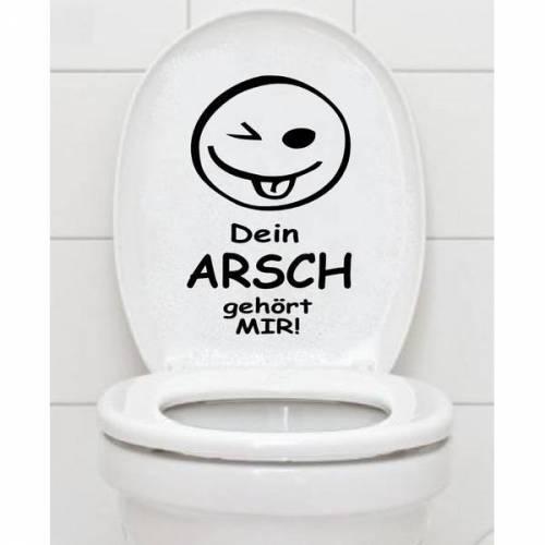 WC Aufkleber - Dein Arsch Gehört Mir - Toilettenaufkleber Fliesenaufkleber B378
