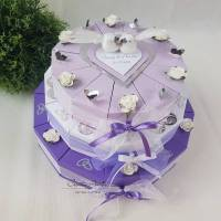 Hochzeitstorte Torte 3stöck. LILA Hochzeit Bild 1