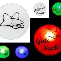 """LED Nachtlicht Stecker """"Stern mit Schlafmütze""""  Bild 1"""