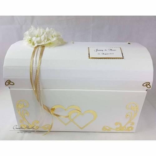 Briefbox Truhe ORCHIDEE BEERE Hochzeit Kartenbox Geschenkschachtel Erinnerungen