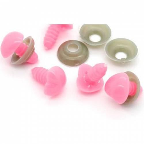 Sicherheitsnase rosa Herzform 13 mm Kunststoff 1Stk.