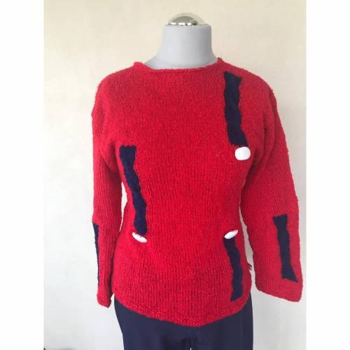 Maritimer Sommer Pullover Gr. 40/42
