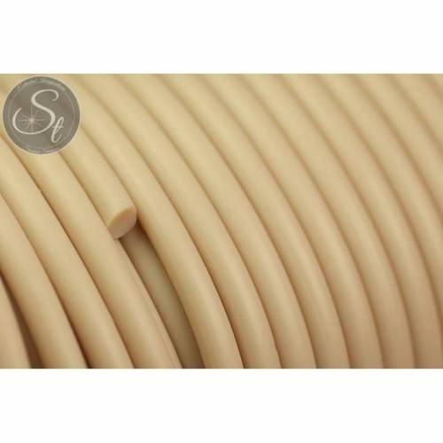 0,5 Meter beige synthetik-Kautschuk Kordel 3mm