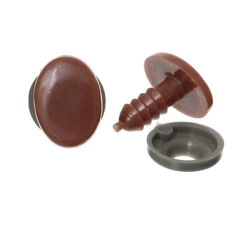 Sicherheitsnase oval braun 14mm Kunststoff 1 Stk. Bild 1